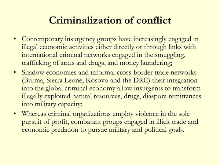 Criminalization of conflict