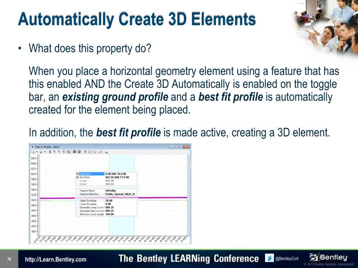Automatically Create 3D Elements