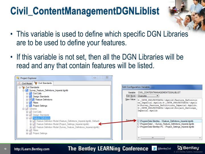 Civil_ContentManagementDGNLiblist