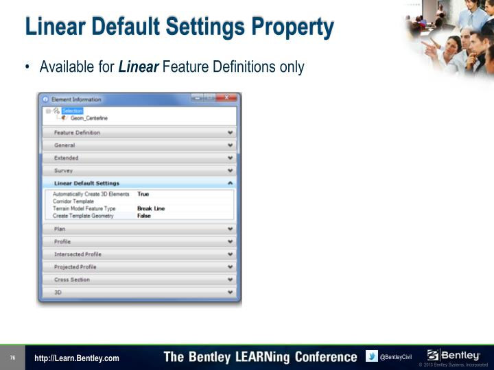 Linear Default Settings Property