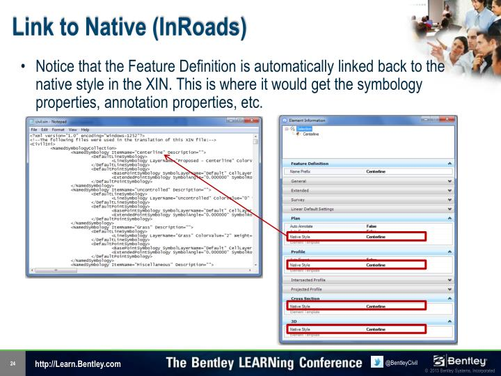 Link to Native (InRoads)