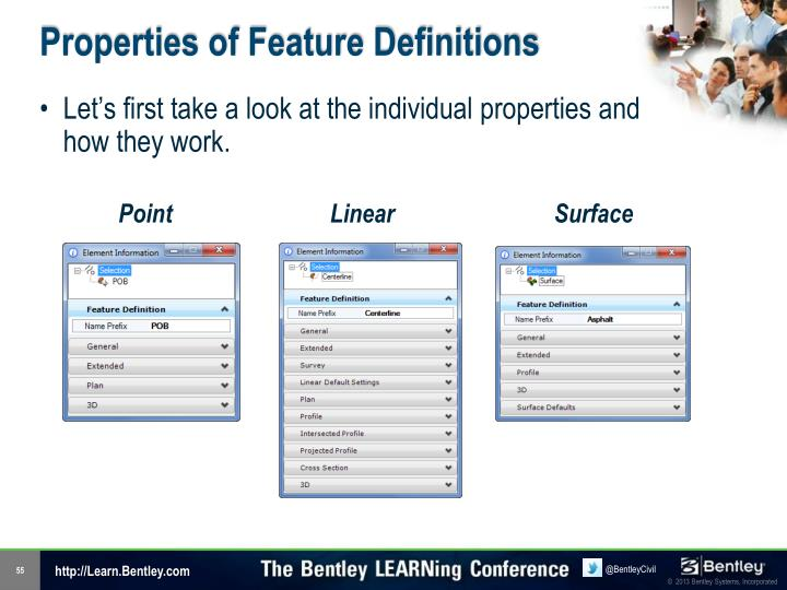 Properties of Feature Definitions