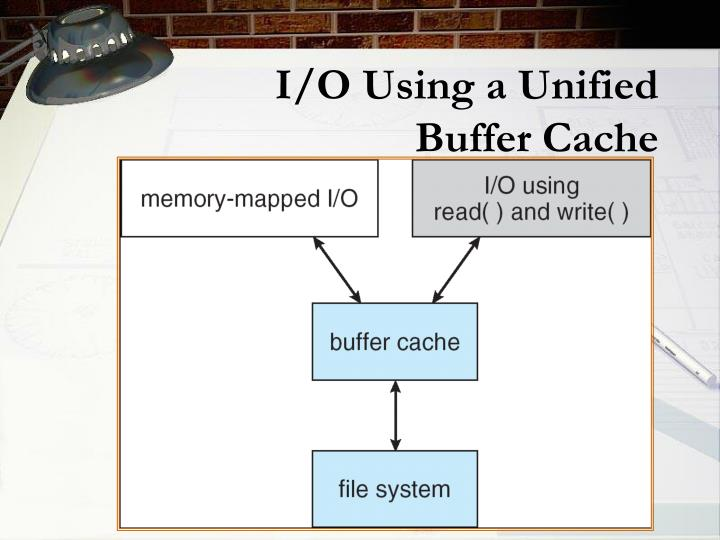 I/O Using a Unified Buffer Cache