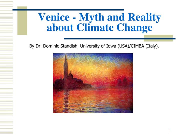 venice myth and reality about climate change n.