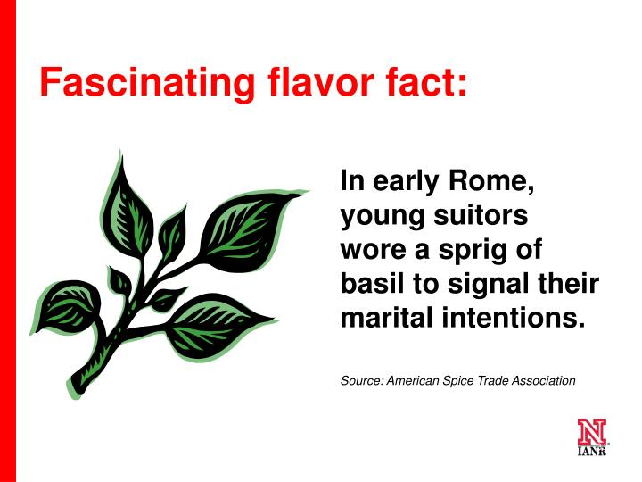 Fascinating flavor fact: