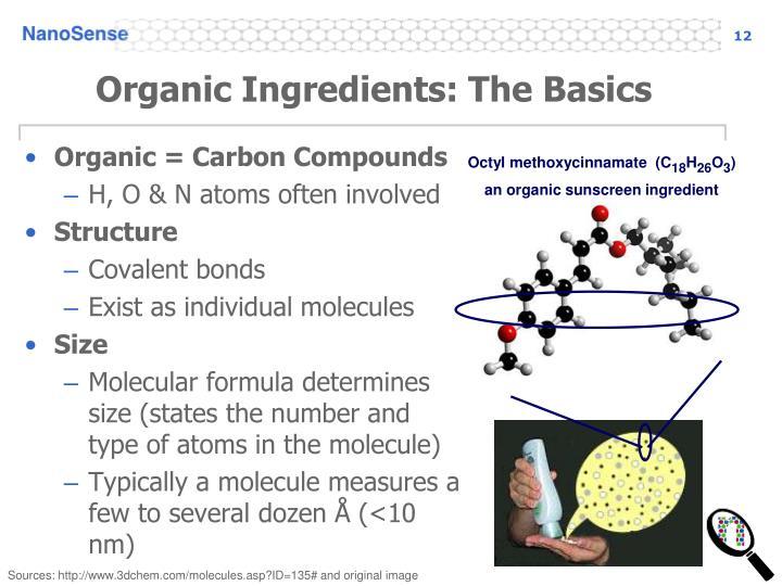 Organic Ingredients: The Basics