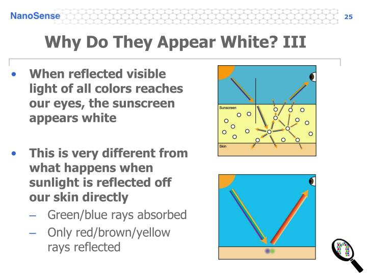 Why Do They Appear White? III