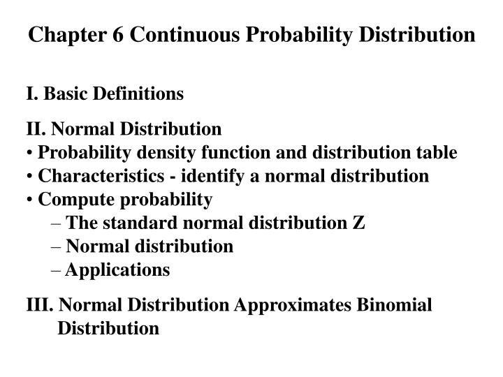 chapter 6 continuous probability distribution n.