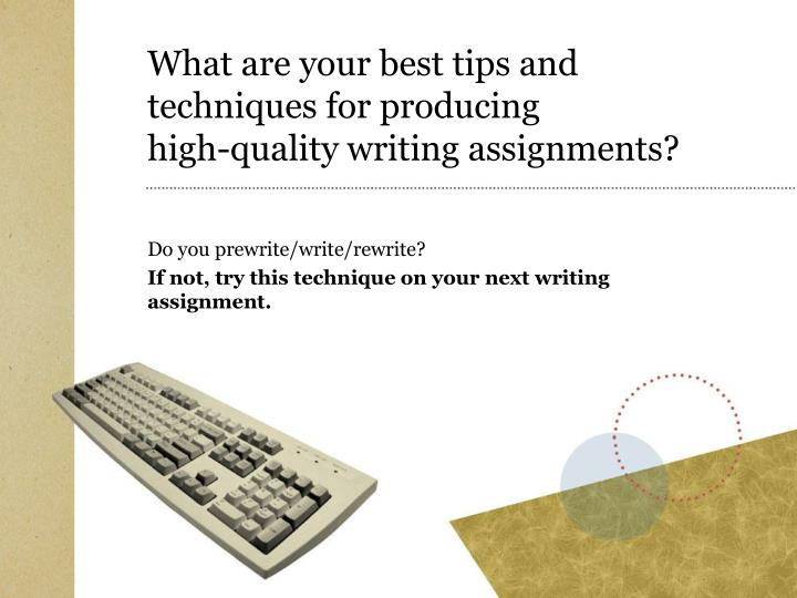 technical writing assignments Looking for some examples of technical writing assignments technical writing is writing that is done for the purpose of educating, informing or.