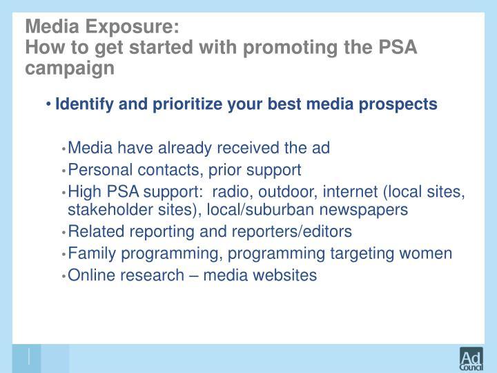 Media Exposure: