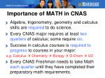 importance of math in cnas
