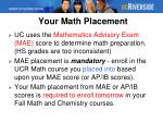your math placement