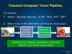classical computer vision pipeline1