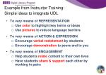 example from instructor training simple ideas to integrate udl