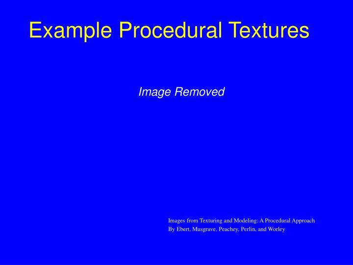 Example Procedural Textures