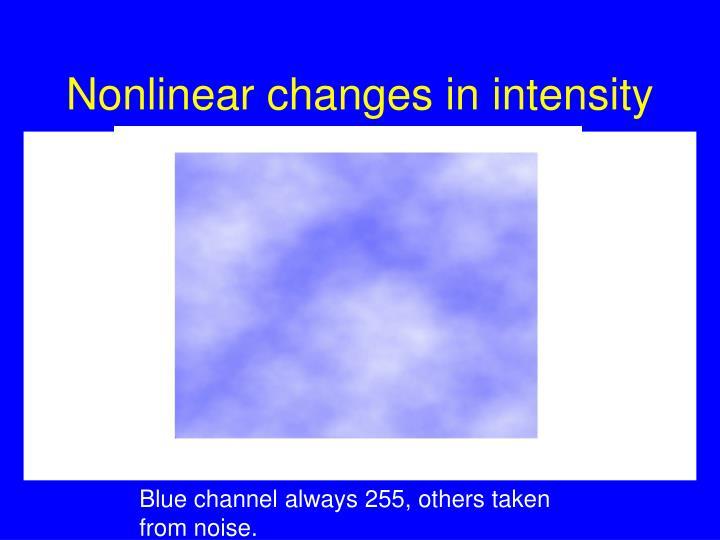 Nonlinear changes in intensity