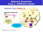 network expansion case 2 different vendor
