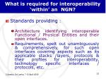 what is required for interoperability within an ngn