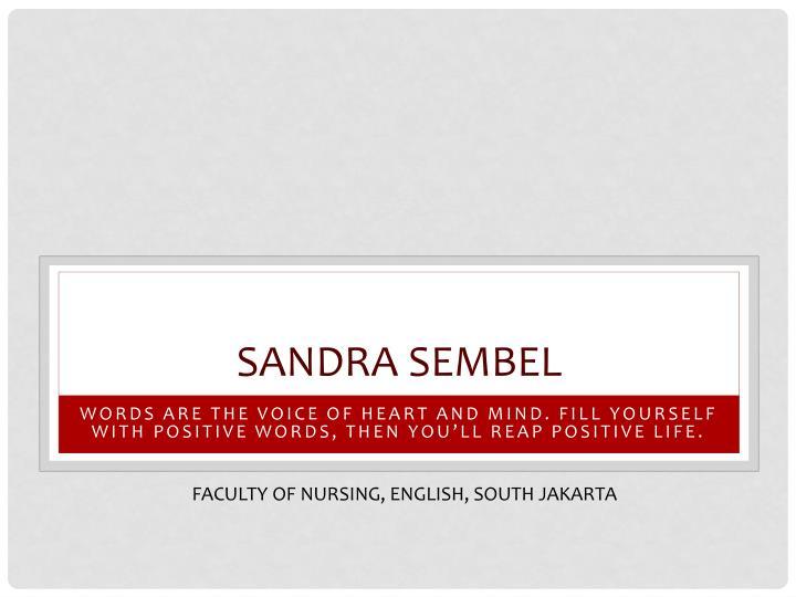 Sandra sembel