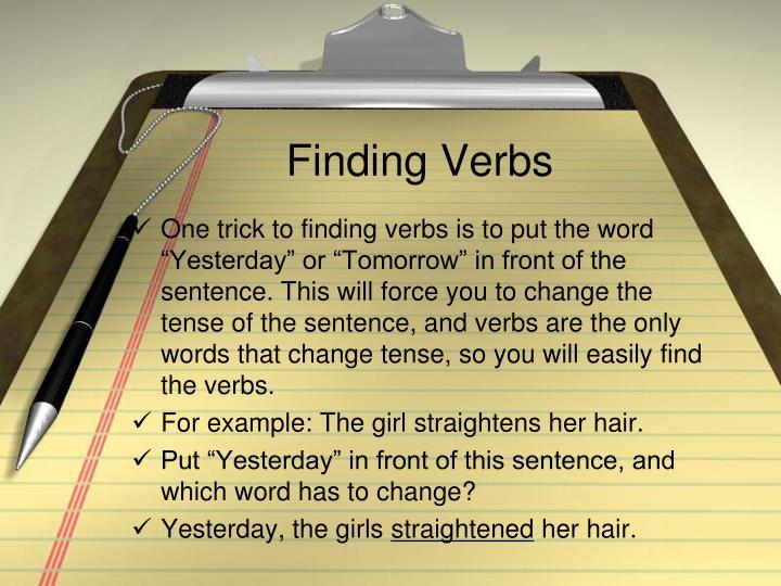 Finding Verbs