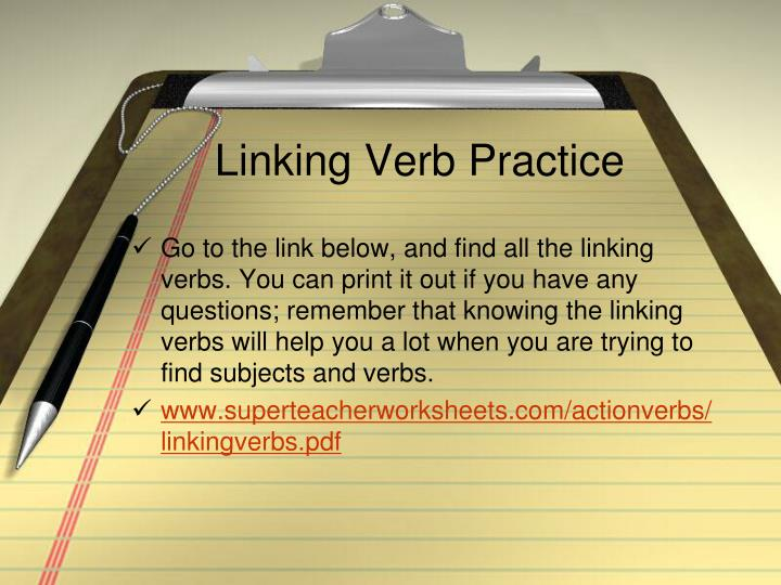 Linking Verb Practice