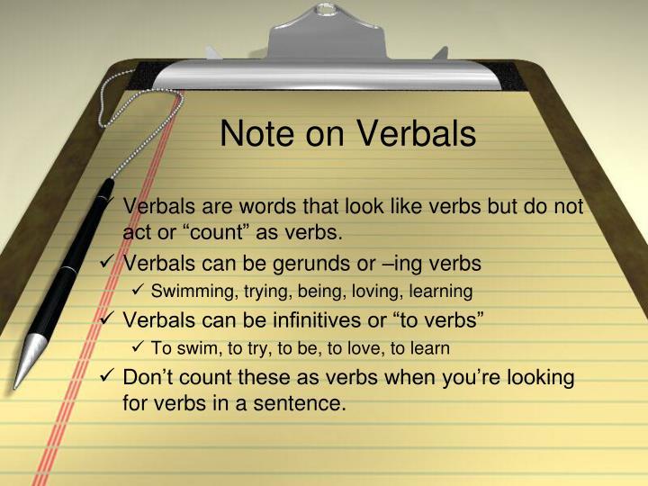 Note on Verbals
