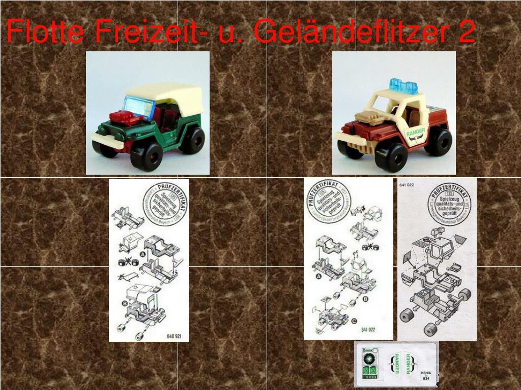 1990 D FLOTTE FREIZEIT-und GELÄNDEFLITZER  MODELL 4 ohne Kennung