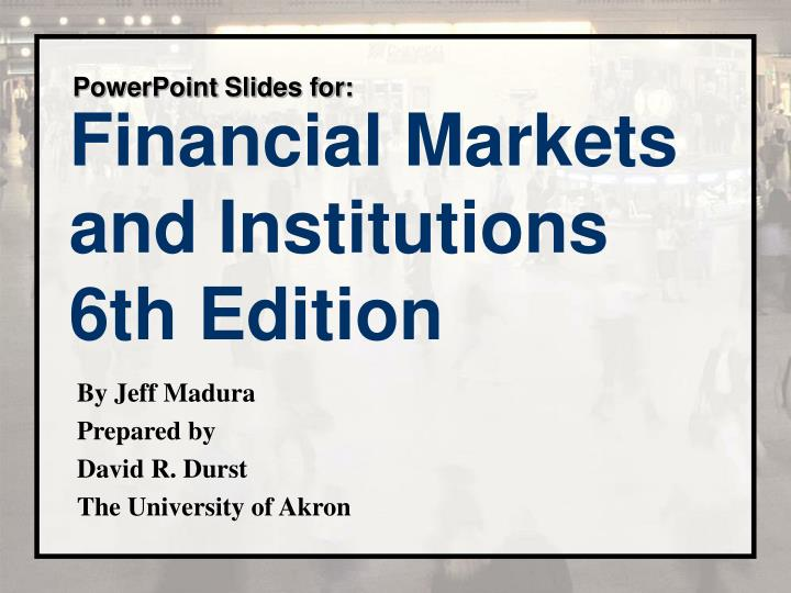 chapter 13 financial futures markets