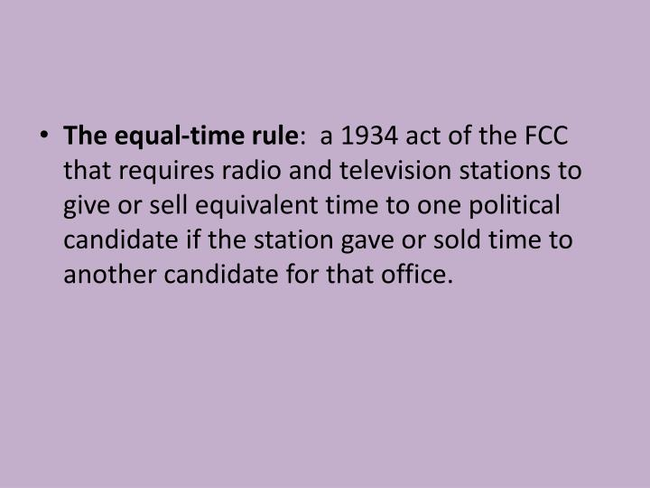 The equal-time rule