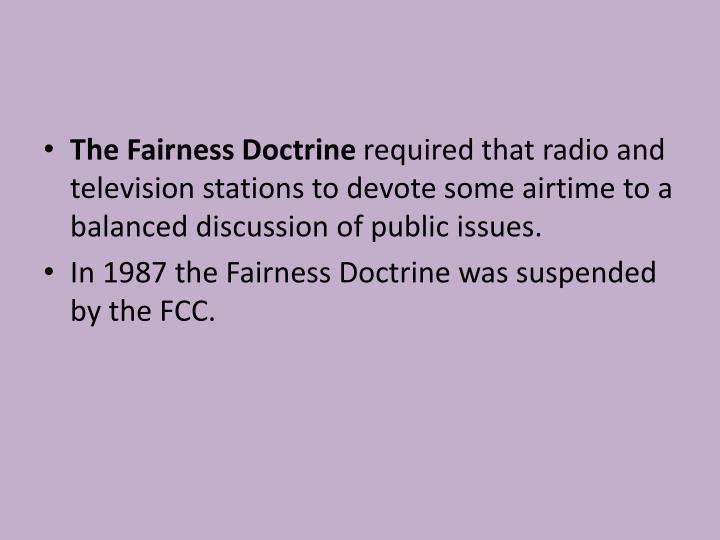 The Fairness Doctrine