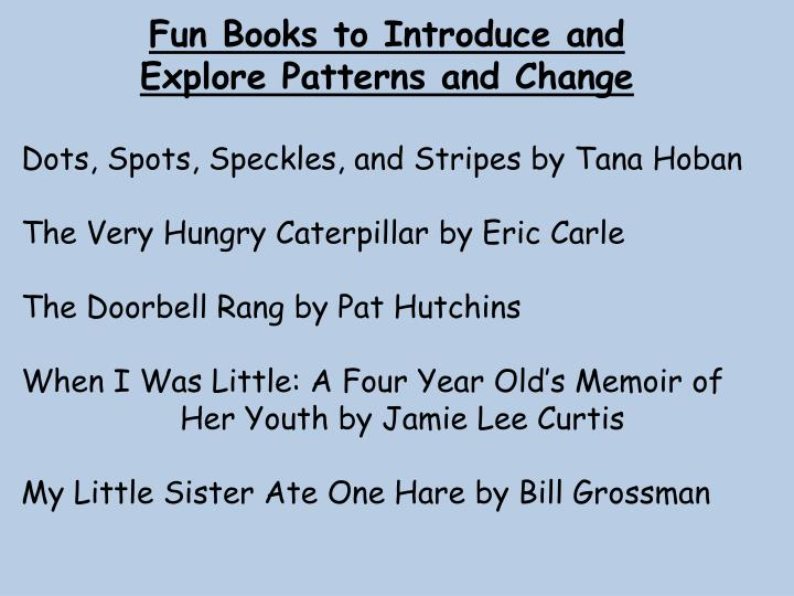 Fun Books to Introduce and