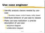 use case engineer
