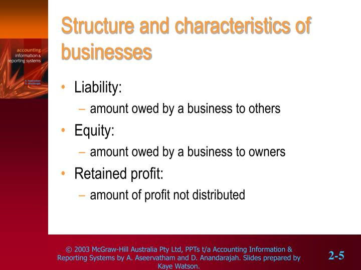 Structure and characteristics of businesses