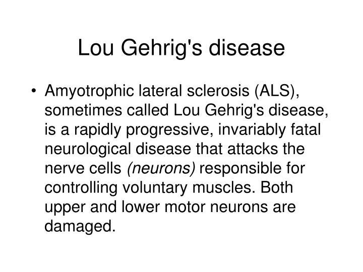 lou gherigs disease