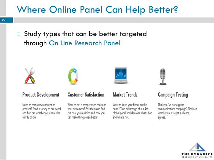 Where Online Panel Can Help Better?