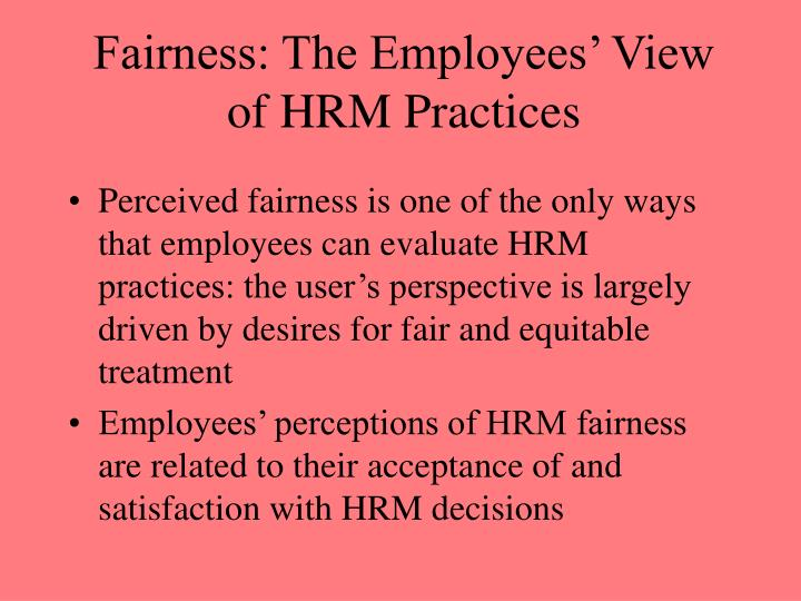 employee satisfaction and the hrm practices Hrm practices on job satisfaction the authors set job satisfaction or employee efficiency as the effect of human resource management practices on the.