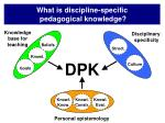 what is discipline specific pedagogical knowledge6