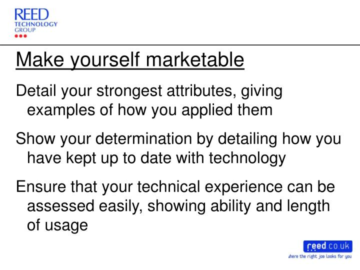 Make yourself marketable