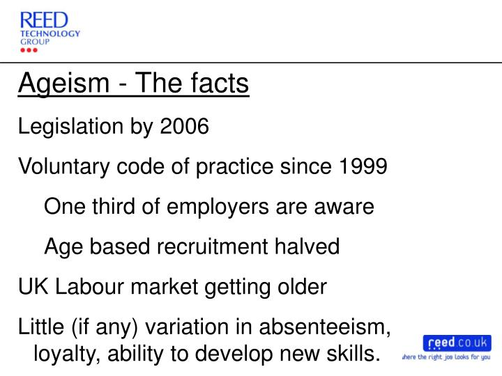 Ageism - The facts