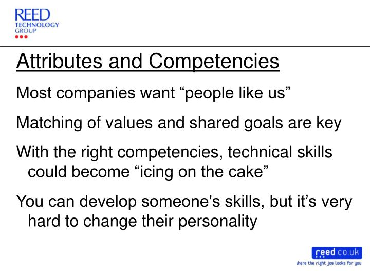 Attributes and Competencies