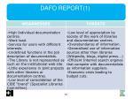 dafo report 1