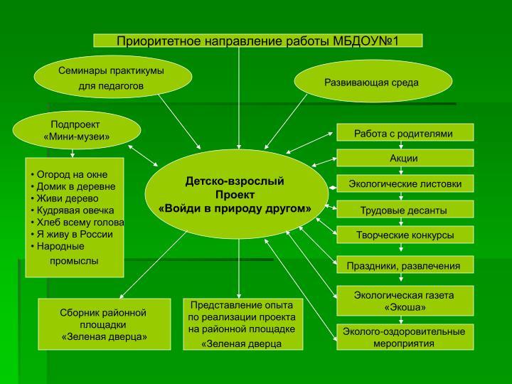 Приоритетное направление работы МБДОУ№1
