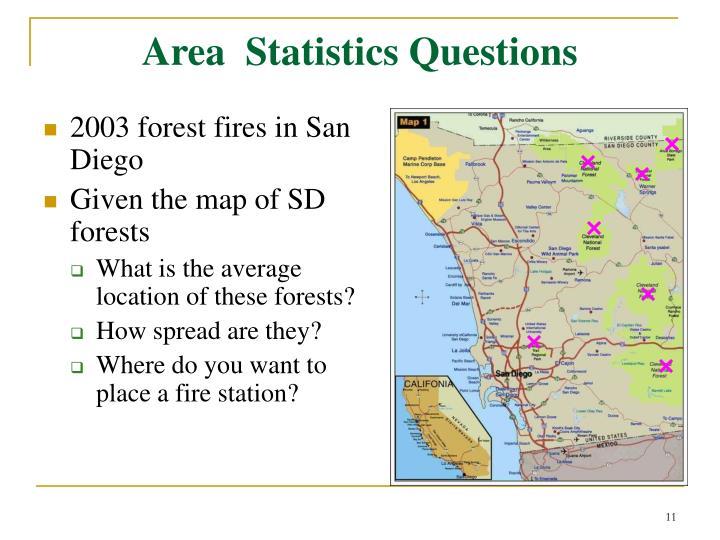 Area  Statistics Questions