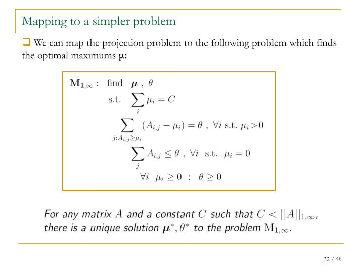 Mapping to a simpler problem