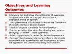 objectives and learning outcomes