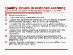 quality issues in distance learning international association for management education july 1999