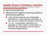 quality issues in distance learning international association for management education july 19991