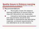 quality issues in distance learning international association for management education july 19992