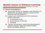 quality issues in distance learning international association for management education july 19993