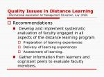 quality issues in distance learning international association for management education july 19994